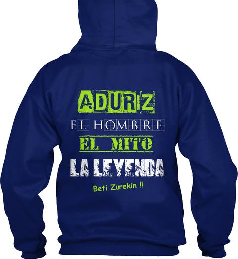 Aduriz El Hombre El Mito Laleyenda Beti Zurekin !! Oxford Navy Camiseta Back