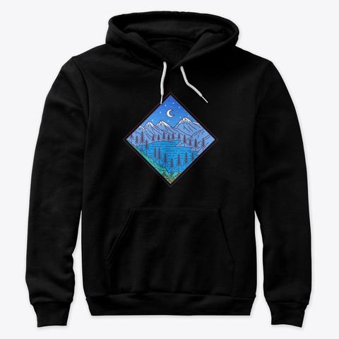 Moonlit Lake Black T-Shirt Front