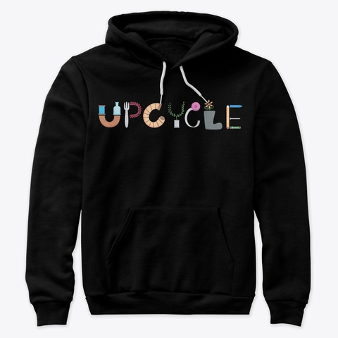 Upcycle Design Black T-Shirt Front