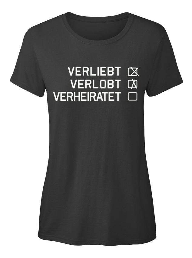 Verliebt-Verlobt-Verheiratet-Stylisches-T-Shirt-Damen