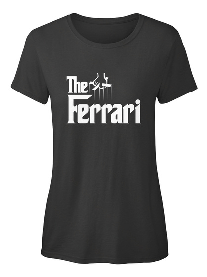 The Ferrari Black Camiseta de Mujer Front