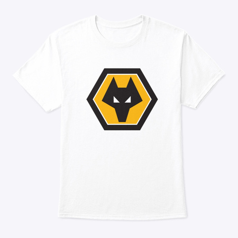 Wolf Badge White T-Shirt Front