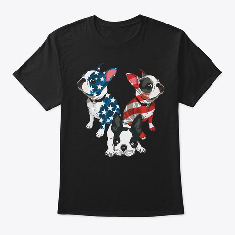 4th Of July Boston Terrier Lover Gift Unisex Tshirt