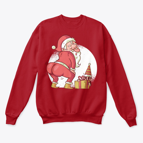 Christmas Twerking Santa Deep Red  T-Shirt Front
