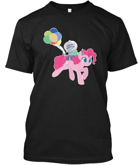 Pinkie Brings The Party To You Black T-Shirt Front
