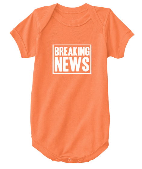 Breaking News Orange T-Shirt Front