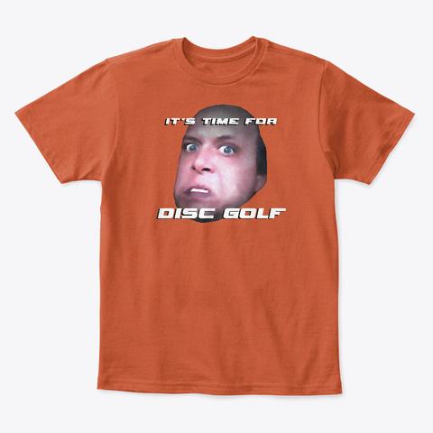 Disc Golf   Rap Cd   Kid's T Shirt Deep Orange  T-Shirt Front
