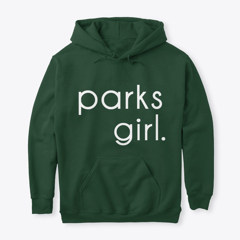 Parks Girl  Forest Green T-Shirt Front