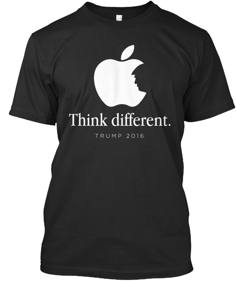 Think Different. Trump 2016 Black T-Shirt Front