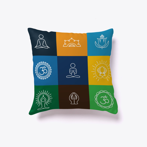 Yoga Poses Limited Edition   Pillow White Kaos Back