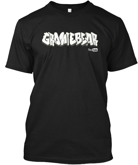 Gramtebear You Tube Black T-Shirt Front