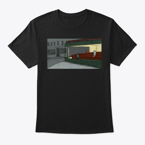 Night Hawks Tee Black T-Shirt Front