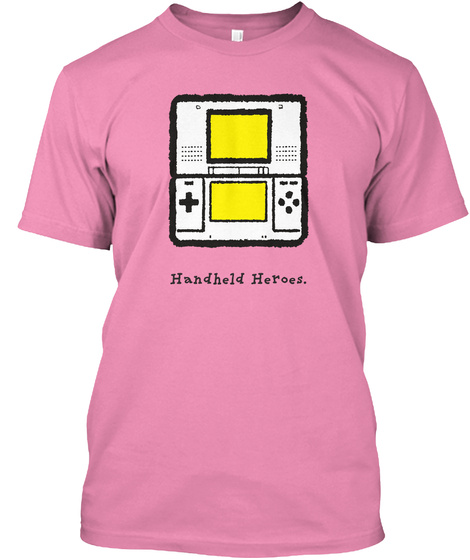 Ds   Handheld Heroes (Us) Pink T-Shirt Front
