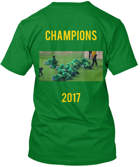Champions 2017 Bright Green T-Shirt Back