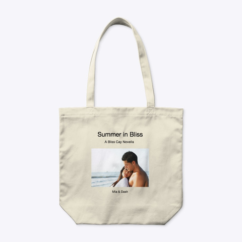 Summer In Bliss Book/Tote Natural T-Shirt Front