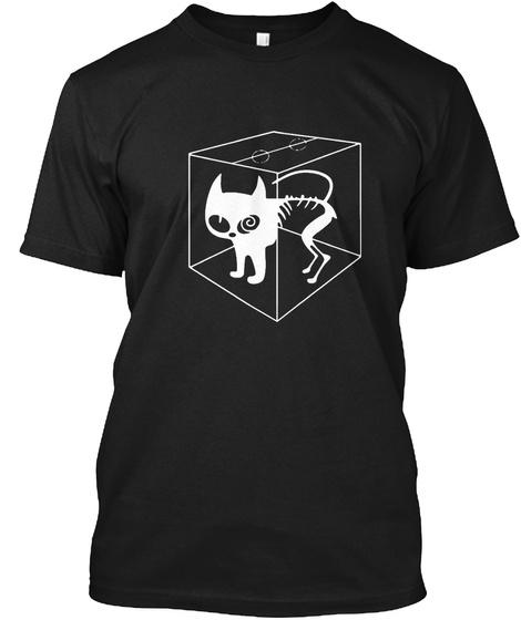 Schrödinger's Cat Black Camiseta Front