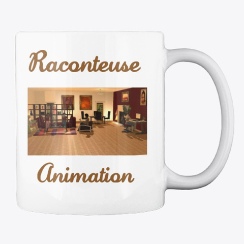 Raconteuse Animation Mugs White T-Shirt Back