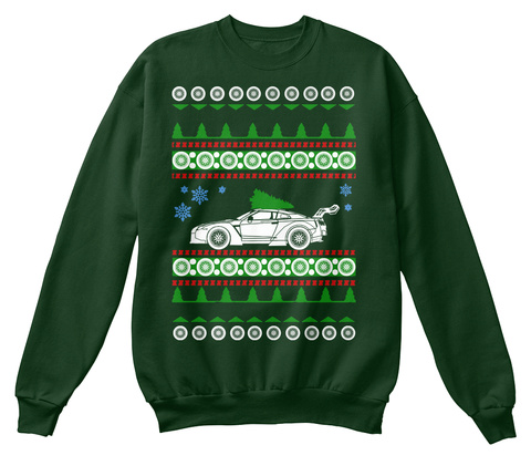R35 Gtr  Libertywalk Ugly Christmas  Deep Forest  T-Shirt Front