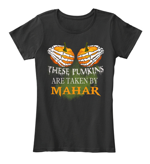 These Pumkins Are Taken By Mahar Black Women's T-Shirt Front