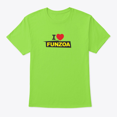 I Love Funzoa (Style 01) Lime T-Shirt Front
