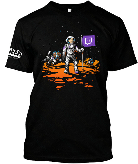 Twitch Science Week Shirt Black T-Shirt Front