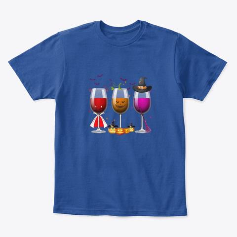 Wine Halloween Deep Royal  T-Shirt Front