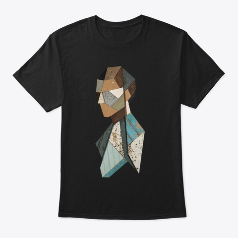 Abstract Graphic Design Black T-Shirt Front