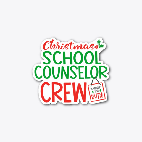 Christmas School Counselor, Xmas Crew Standard T-Shirt Front