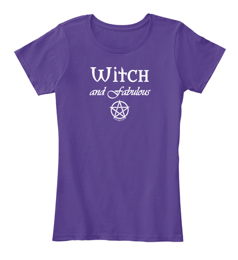 Witch And Fabulous Purple T-Shirt Front