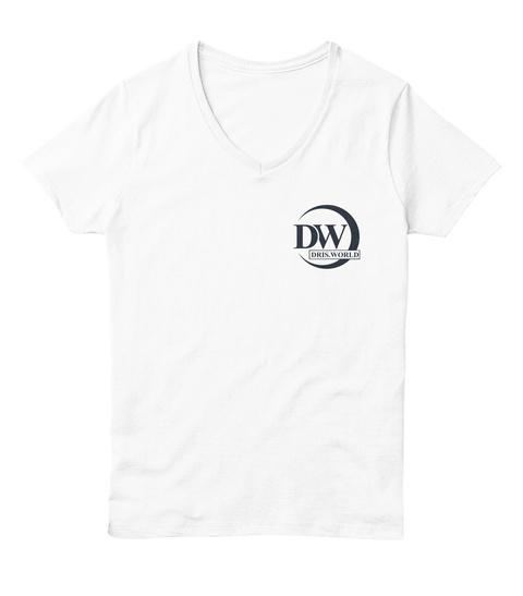 Dris World White  T-Shirt Front