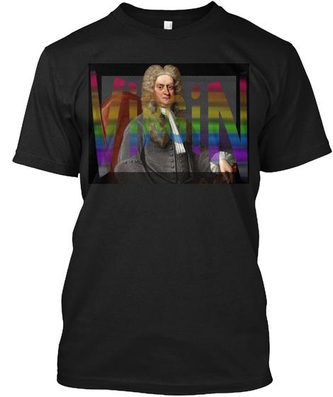 Sir Isaac Newton   Virgin Black T-Shirt Front