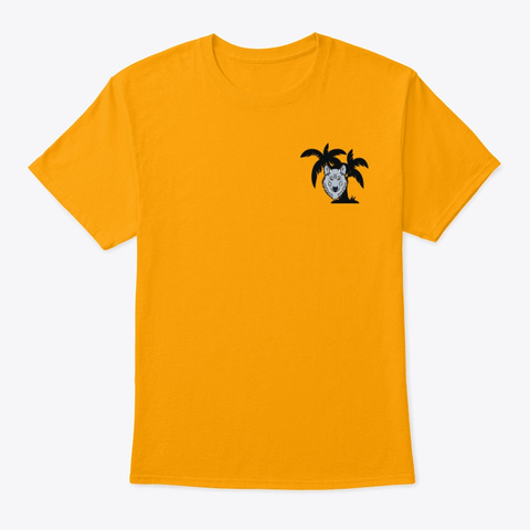 Good Vibes Only  Gold T-Shirt Front