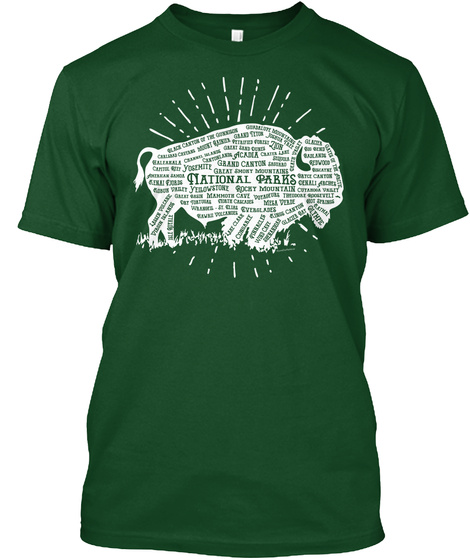 National Parks Deep Forest T-Shirt Front