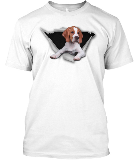 Torn   English Pointer White T-Shirt Front