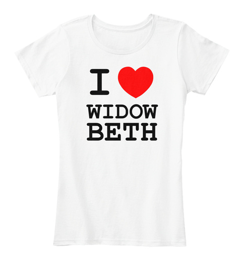 I Heart Widow Beth White Women's T-Shirt Front