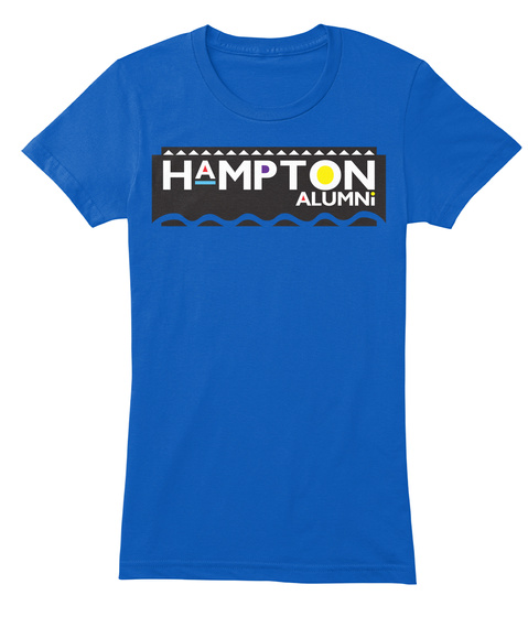 Hampton Alumni Royal T-Shirt Front