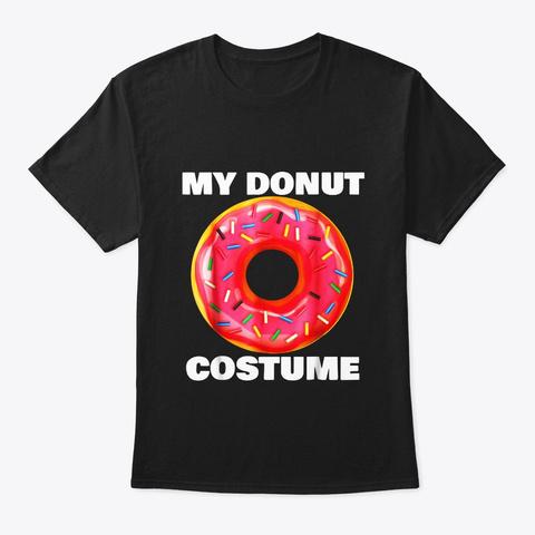 Funny Donut T Shirt Halloween Costume Black T-Shirt Front