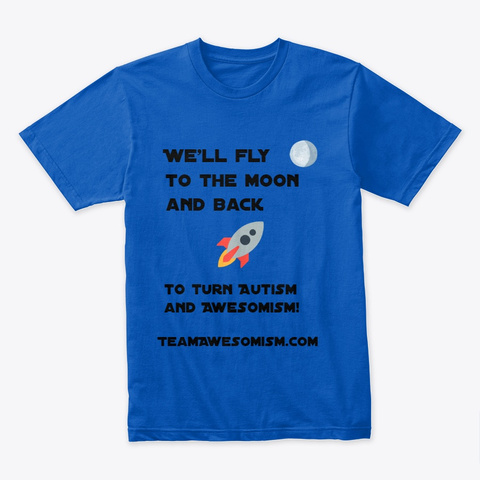 Awesomism Moon Royal T-Shirt Front