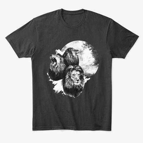 Three Wallies One Moon Black T-Shirt Front