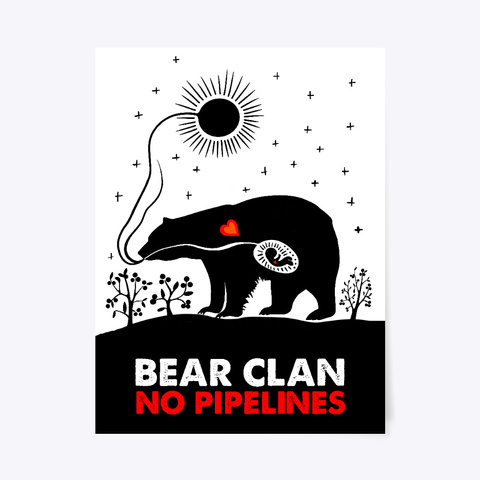 Bear Clan No Pipelines Poster Standard T-Shirt Front