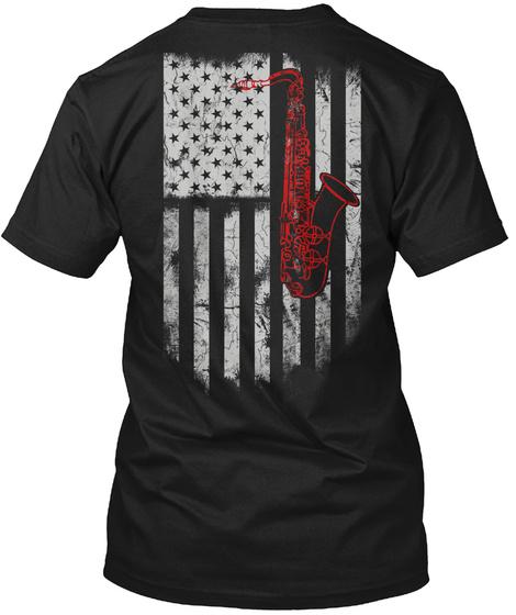 Special Saxophone Tshirt Limited Edition Black T-Shirt Back