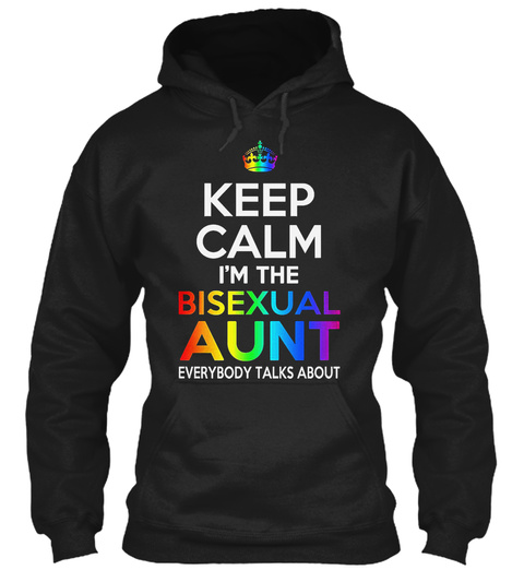 Keep Calm   Lgbt Black T-Shirt Front