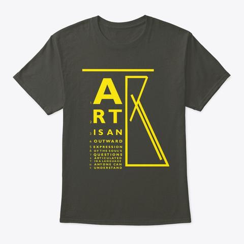 Art Eye Chart Unisex W/Ylw Smoke Gray T-Shirt Front