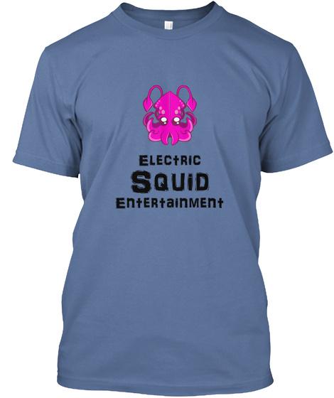 Emily Squid Logo Denim Blue T-Shirt Front