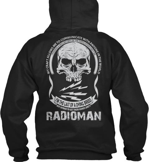 My Craft Navy Radioman Black T-Shirt Back
