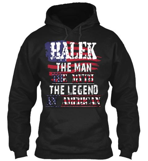 Halek  Black T-Shirt Front