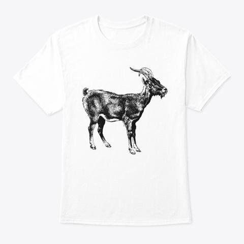 Goat White áo T-Shirt Front
