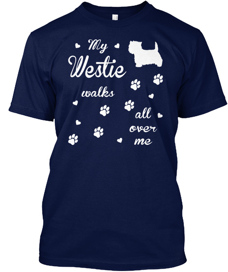 Westie Navy T-Shirt Front