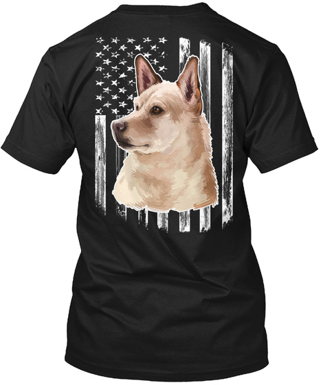 American Flag Canaan Dog 4th Of July Tee Black T-Shirt Back