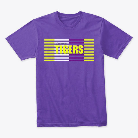 Tiger Stripes Purple Rush T-Shirt Front